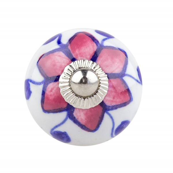 Möbelknopf Möbelknauf Möbelgriff 039 JKGH 9006 pink blau