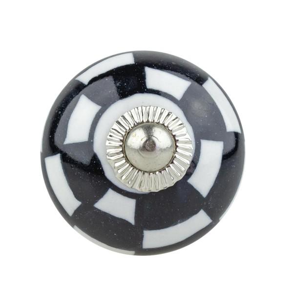 Möbelknopf Möbelknauf Möbelgriff 12008 schwarz weiss