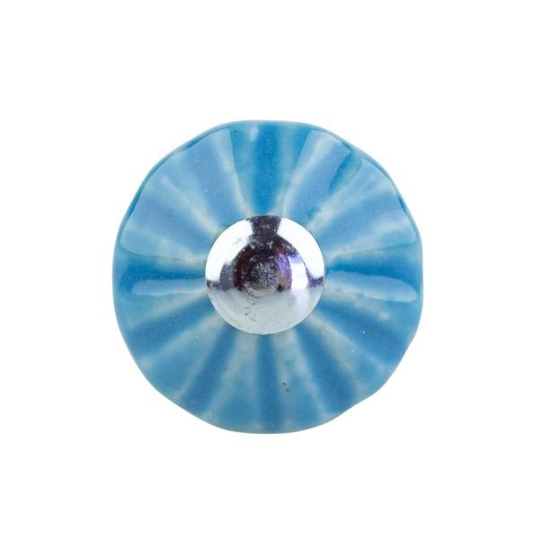 Möbelknopf Möbelknauf Möbelgriff Trompete hellblau E