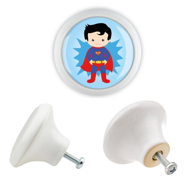 Möbelknopf Möbelgriff Möbelknauf KK029 06182W Superhelden