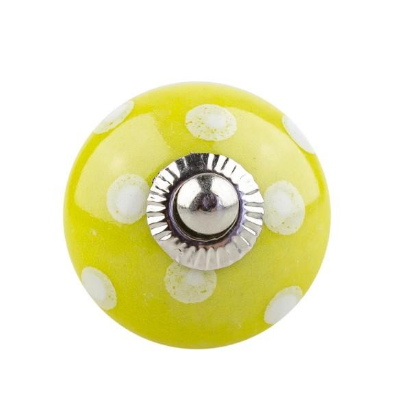 Möbelknopf Möbelknauf Möbelgriff 002 JKGH 1003 gelb mit leichtem Grünstich