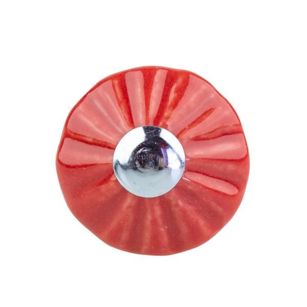 Möbelknopf Möbelknauf Möbelgriff Trompete rot E