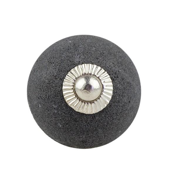 Möbelknopf Möbelknauf Möbelgriff 037 JKGH 836-E schwarz granit unglasiert