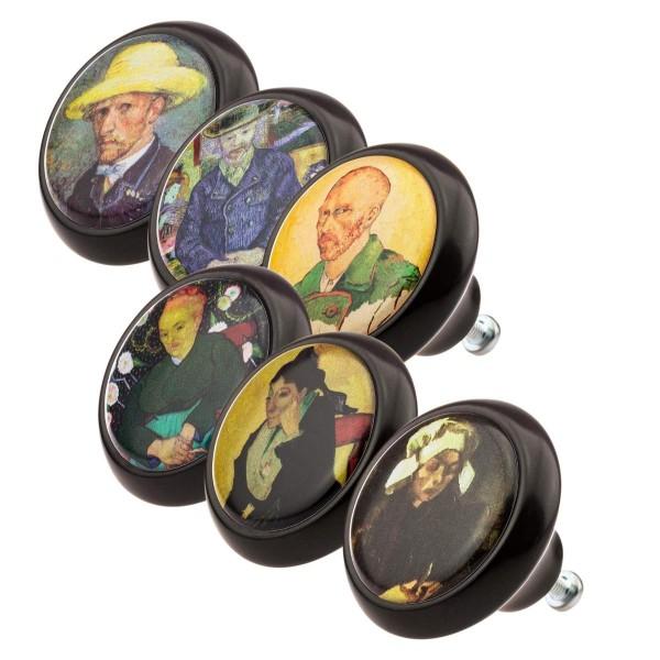 Möbelknopf Möbelgriff Set 0161 Van Gogh 6er KNOPF KUNST