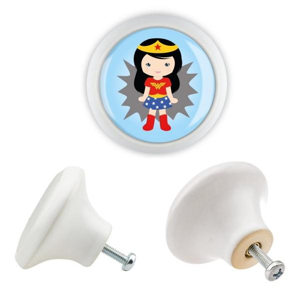 Möbelknopf Möbelgriff Möbelknauf KK029 06183W Superhelden