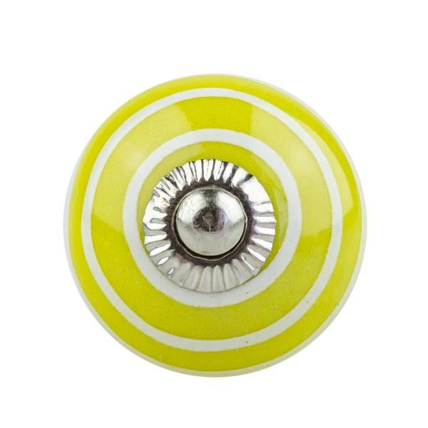 Möbelknopf Möbelknauf Möbelgriff 006 JKGH 1053 gelb mit leichtem Grünstich