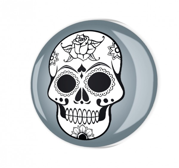 Magnete MG03317 Totenkopf Grau Blume