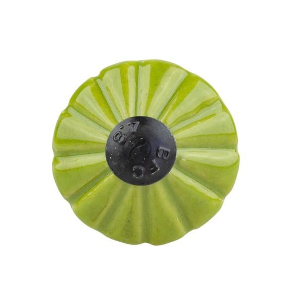 Möbelknopf Möbelknauf Möbelgriff Trompete grün A